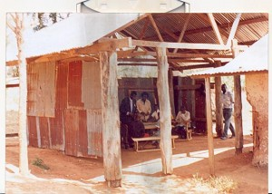 Photo from May 2008 showing the classroom/school as Mr Dean found it.